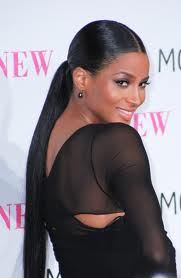 Ciara rocks a classic ponytail that is fast, easy, and appropriate for any occasion